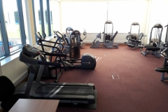 Old student gym with 15 year old equipment