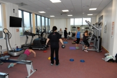 Old student gym in use!